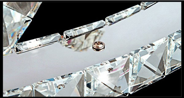 Żyrandol kryształowy RING z pilotem 80x60x40x20 z pilotem B003