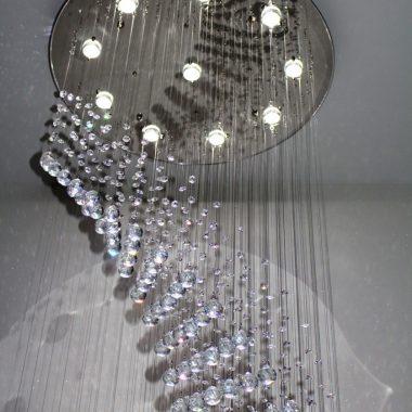 Żyrandol kryształowy kaskada 80x260cm 12xGU10 B012
