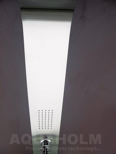 Aquaholm panel prysznicowy z hydromasażem, wymiary 175cm x 12cm, model 053