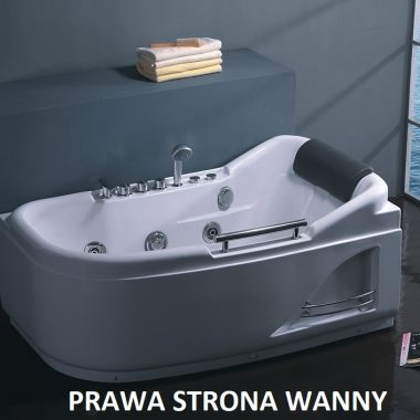 W07 Wanna prostokątna z hydromasażem 140x80 WERSJA PRAWA