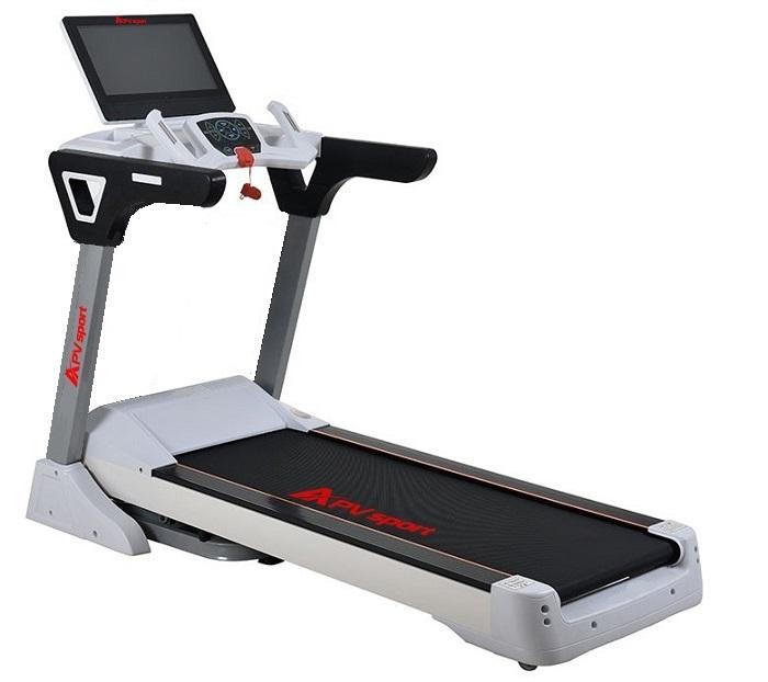 APVsport Bieżnia elektryczna do biegania i chodzenia APV5000 S, ekran TFT ANDROID 10.1 cala, pas biegowy 135x48cm