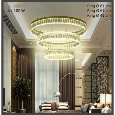 Żyrandol kryształowy RING 180Watt B015