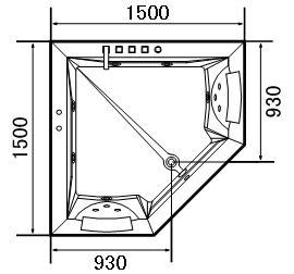 Treg W55 Wanna z hydromasażem 150x150