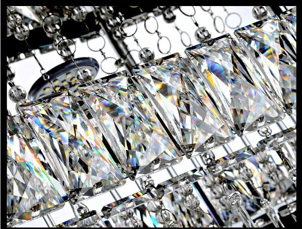 Żyrandol kryształowy nad stół 70cm 44Watt B004