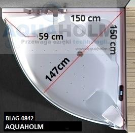 Aquaholm CN-3131 150cm x 150cm x 59cm + PODGRZEWACZ WODY