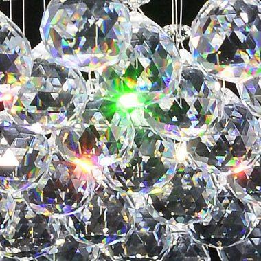 Żyrandol kryształowy LED 60x60 cm B013