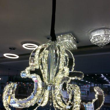 Żyrandol kryształowy 60cm 60Watt B019