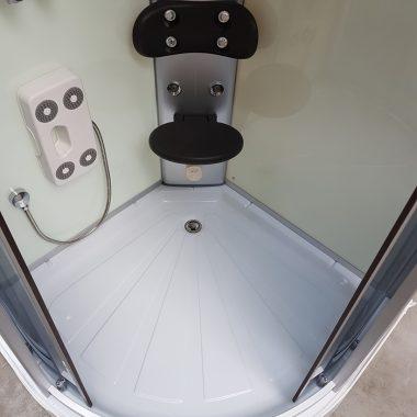 Treg K07 Kabina prysznicowa z hydromasażem 80cm x 80cm 8 DYSZ KOLOR BIAŁY