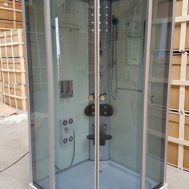 Treg K05 Kabina prysznicowa z hydromasażem 100cm x 100cm 8 DYSZ KOLOR BIAŁY