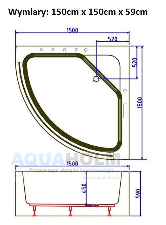 Aquaholm CC-3131 150cm x 150cm x 59cm