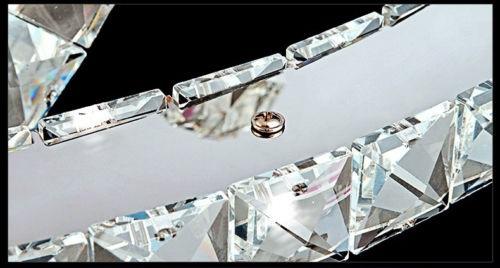 Żyrandol kryształowy RING 80x60x40cm z pilotem B016
