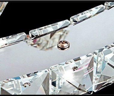 Żyrandol kryształowy RING 70x50 z pilotem B021