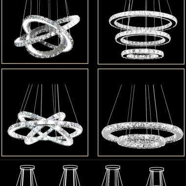 Żyrandol kryształowy RING 70x50x30 B027