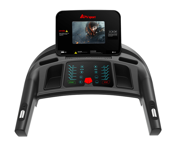 APVsport Bieżnia elektryczna do biegania i chodzenia APV6000 S, ekran TFT ANDROID 10.1 cala, pas biegowy 135x48cm