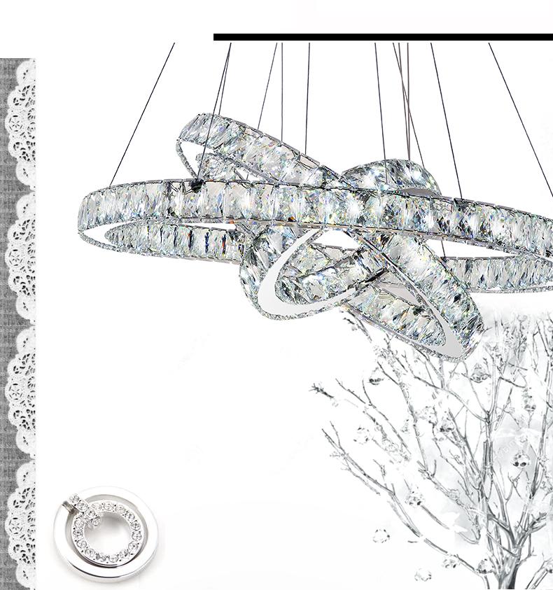 Żyrandol kryształowy RING 70x50x30 - gruby ring B026