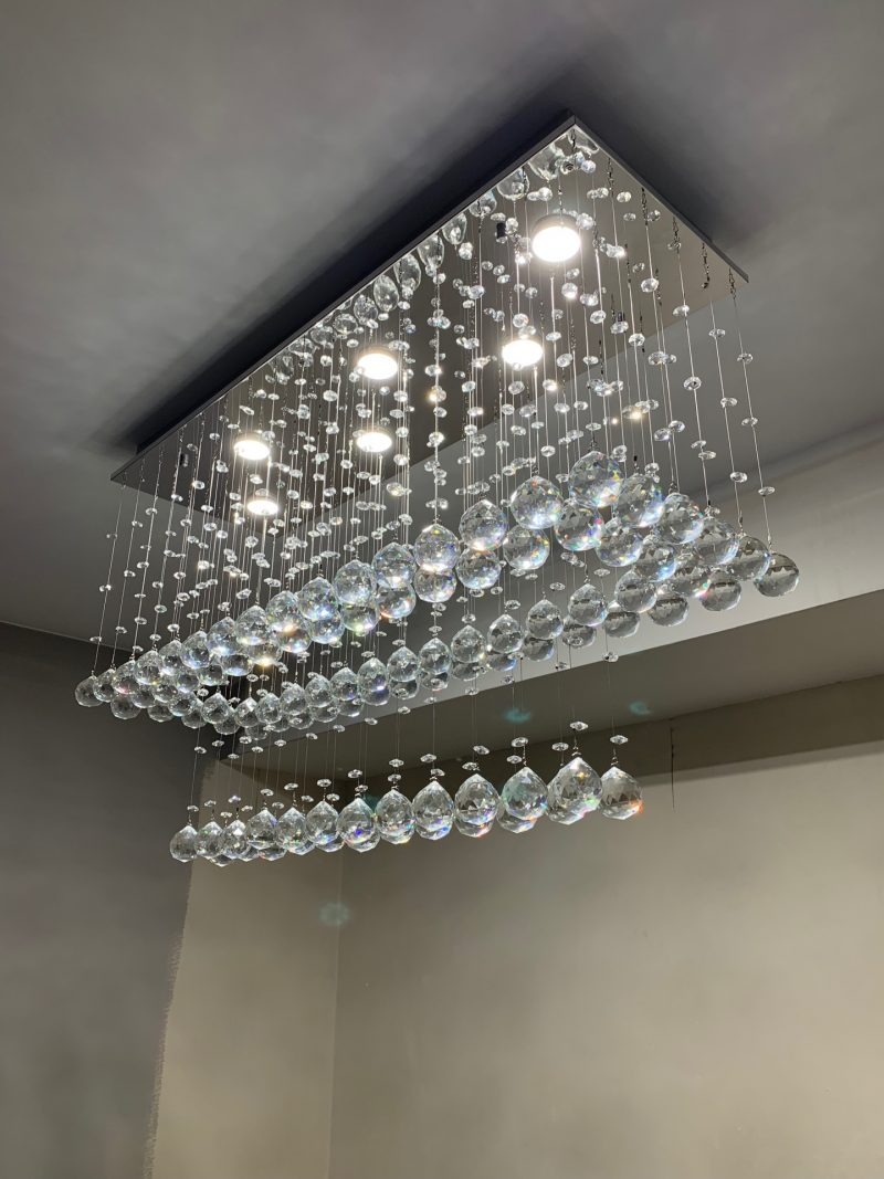 Żyrandol kryształowy 90x30x50cm 6xGU10 B011