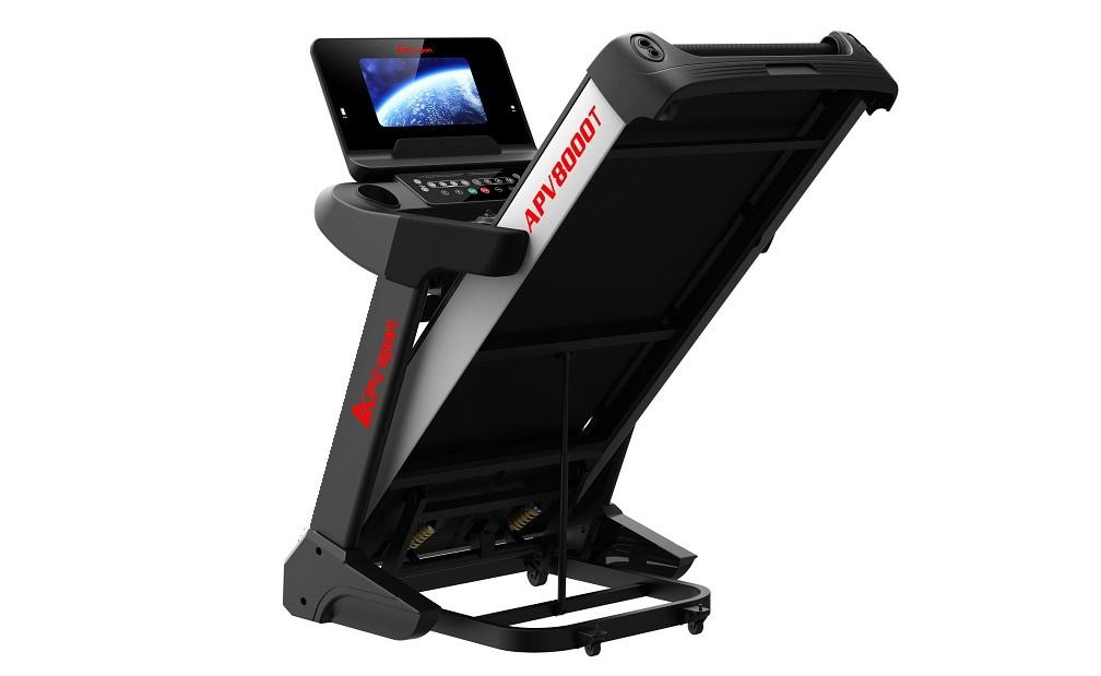 APVsport Bieżnia elektryczna do biegania i chodzenia APV8000T S, ekran TFT ANDROID 10.1 cala, pas biegowy 145x58cm