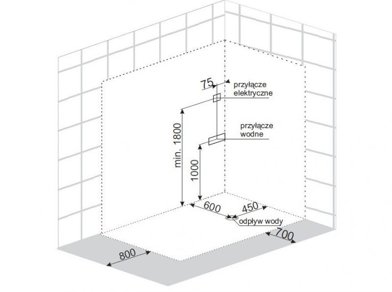 Treg K18 Kabina prysznicowa z hydromasażem 120cm x 80cm Z SAUNĄ NOWOŚĆ! CZARNA LEWA