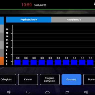 APVsport Bieżnia elektryczna do biegania i chodzenia APV6000, ekran TFT ANDROID 10.1 cala, dodatkowe wyposażenie PROMOCJA! - masażer, hantle, brzuszki, mata, pas biegowy 135x48cm