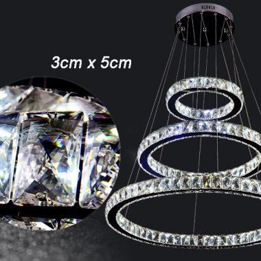 Żyrandol kryształowy RING z pilotem 80x60x40 B008