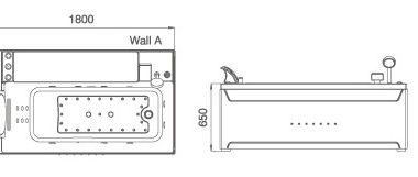 Treg W71 Wanna prostokątna z hydromasażem 180x100 + PODGRZEWACZ WODY!