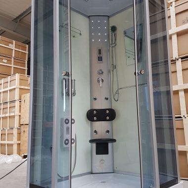 Treg K06 Kabina prysznicowa z hydromasażem 90cm x 90cm 8 DYSZ KOLOR BIAŁY