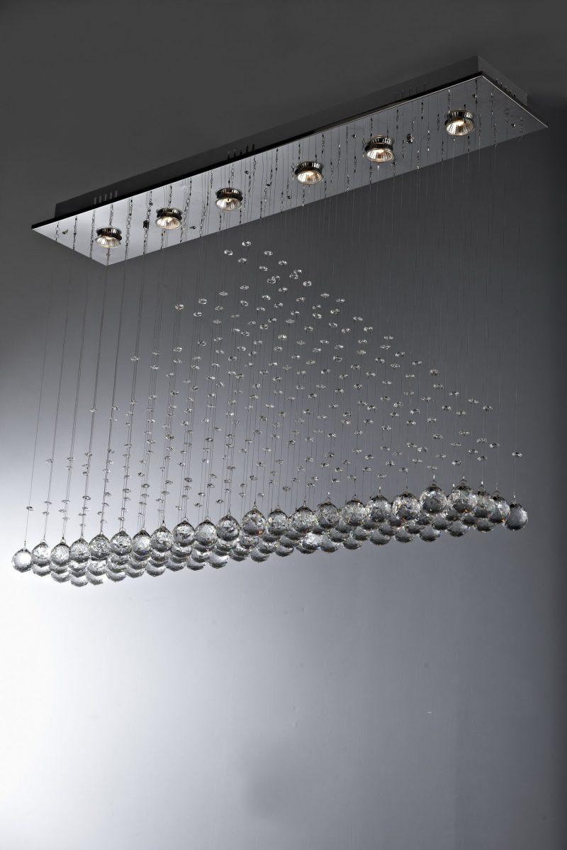 Żyrandol kryształowy 100x20x70cm 6xGU10 80x60x40 B009